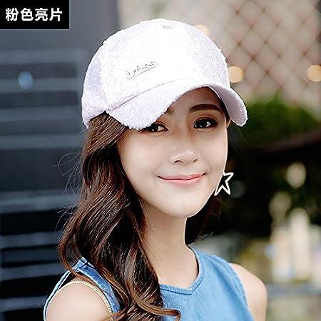 Amazon.com: Girls Baseball Cap Couple White hat Summer Sunscreen Sun hat Man Sequin Peaked Cap,Adjustable,Black Sequins: Kitchen & Dining