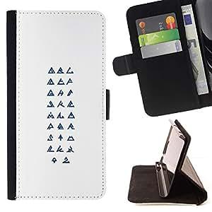 Momo Phone Case / Flip Funda de Cuero Case Cover - Símbolos Religión Arte Secreto - HTC Desire 626