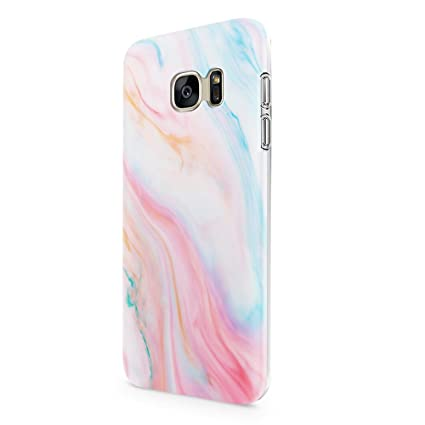 uCOLOR Pastel Marble for Galaxy S7 5.1 inch Protective Case for Girls Flexible TPU Cover for Samsung Galaxy S7 (Note Fit for Galaxy S7 Edge)