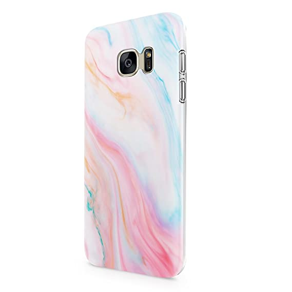 Amazon.com  Pastel Marble for Galaxy S7 Protective Case for Girls ... ecd23cc150