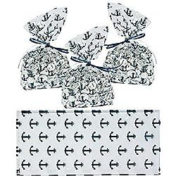 Nautical Anchor Cellophane Party Favor/Wedding Bags (48)