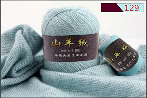 - Fine Cashmere Yarn for Knitting Sweater Cardigan for Men | Soft Wool Yarn for Hand Crocheting Hats Scarves (50+20 G/Set)