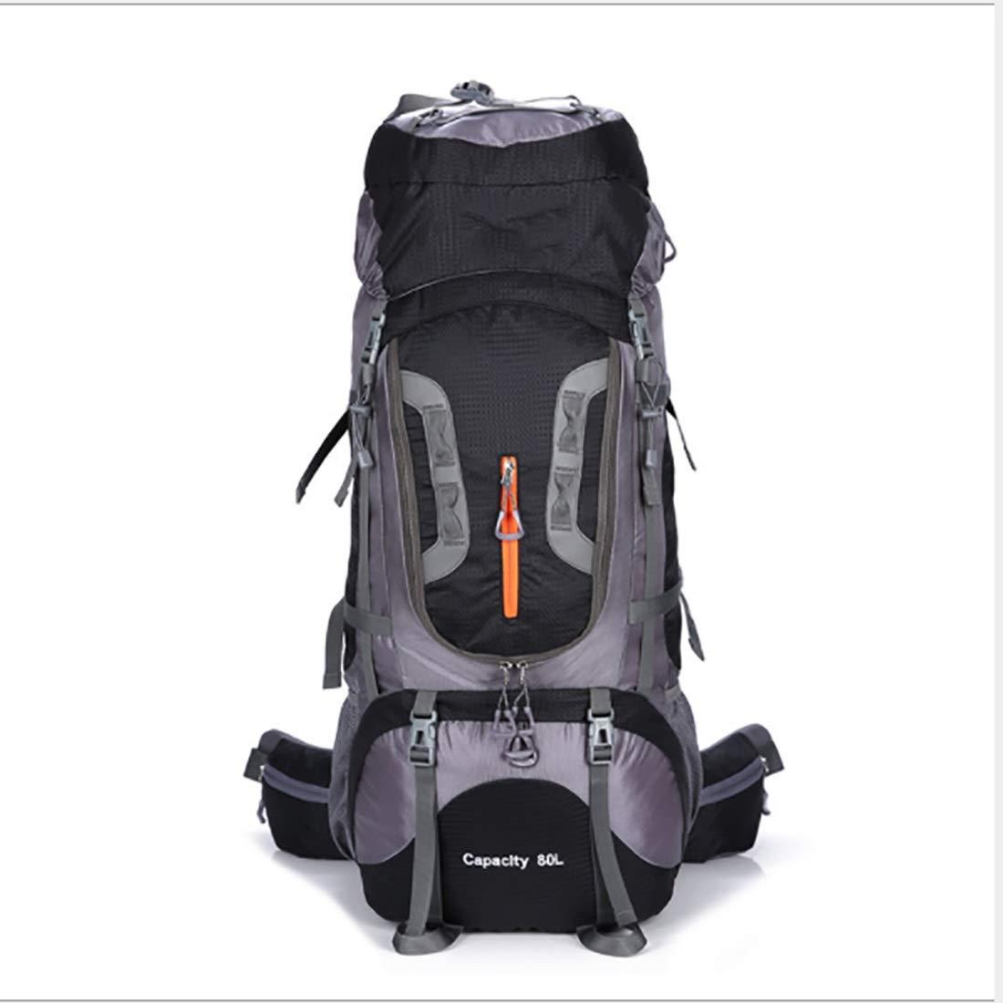 CeSuoLBD 登山バックパック防水ナイロン多機能調節可能なピギーバック旅行野生キャンプレジャースポーツニュートラルショルダー屋外での使用に適して (Color : ブラック) B07NP9XC13 ブラック