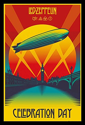 buyartforless IF GB LP1906 36x24 1.25 Black Framed Led Zeppelin Celebration Day 36X24 Music Art Print Poster Wall Decor Classic Image (Zeppelin Led Music Poster)
