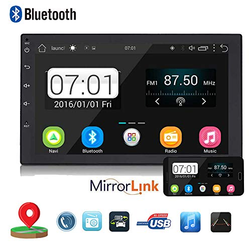 Backup Camera + Double 2Din 7' Touchscreen in Dash Stereo Android Car Navigation Stereo 1G RAM+16G ROM Car Entertainment Multimedia Radio,FM AM Radio/GPS/WiFi/Mirror Link