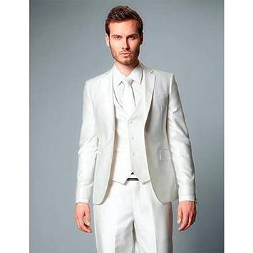 GFRBJK Ivory Groom Tuxedos Trajes de Hombre Boda Esmoquin ...