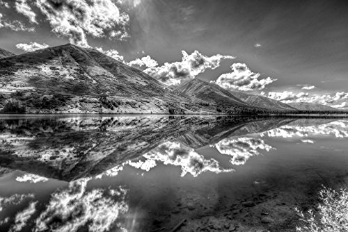 Landscape Pictures / Landscape Photographs of Alaska | Fine Art Black and White Photographs of Summit Lake and Alaskan Mountain Range | Home Decor Pictures for Living Room / Bedroom / Office