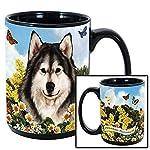 Imprints Plus Dog Breeds (A-D) Alaskan Malamute 15-oz Coffee Mug Bundle with Non-Negotiable K-Nine Cash (alaskan malamute 009) 9