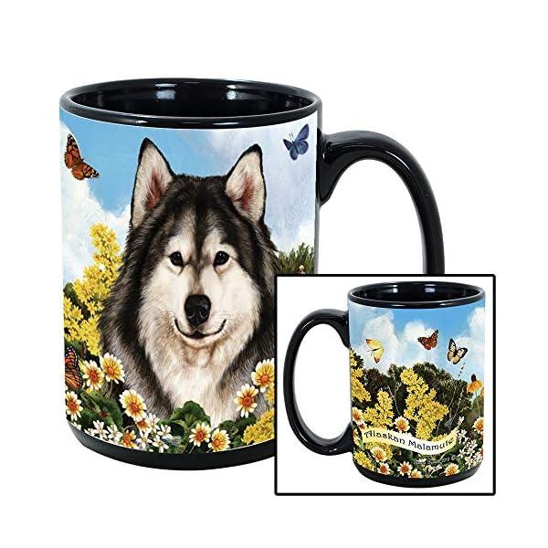 Imprints Plus Dog Breeds (A-D) Alaskan Malamute 15-oz Coffee Mug Bundle with Non-Negotiable K-Nine Cash (alaskan malamute 009) 3