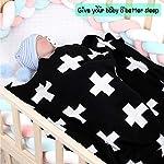 Assby-Baby-Blanket-Cable-Knit-BlackWhite-Cross-Toddler-Blankets-for-Boys-Girls30x-38Black