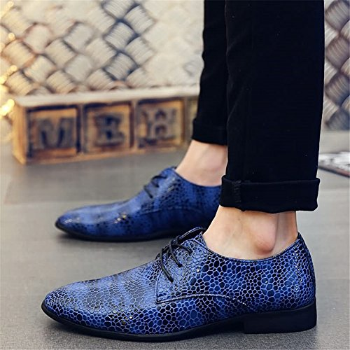 up Comfort Lace Leather Evening Business HUAN Casual for Fall Black Party Work Shoes amp; Oxfords Formal Red B Men's Spring xqE00SwX8