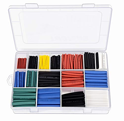 TUOFENG 670 pcs Heat Shrink Tubing 2:1,6 Colors 12 Sizes Insulation Tube Apply to Electrical Wire Cable Wrap Assortment Electric