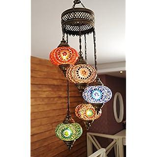 Luxury Turkish Moroccan Mosaic Hanging Lamp