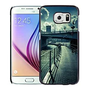 Fashionable Custom Designed Samsung Galaxy S6 Phone Case With Water Bridge Street View Lockscreen_Black Phone Case