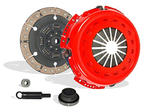 Clutch Kit Works With Ford F250 F350 F59 Base XL Lariat XLT Eddie Special 1994-1997 7.3L V8 DIESEL OHV Turbocharged Naturally Aspirated (Only Solid Flywheel 6-Puck Clutch Disc Stage 4)