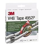 3M VHB 4952P, doppelseitiges Hochleistungsklebeband für kritische Kunststoffe und niederenergetische Werkstoffe z.B. PE oder PP, 19 mm x 3 m, weiß, 4952193