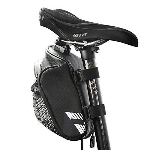 VertAst Bicycle Waterproof Saddle Bag Bike Water Bottle Holder MTB CTB Under Seat Bike Bag with Tail Light