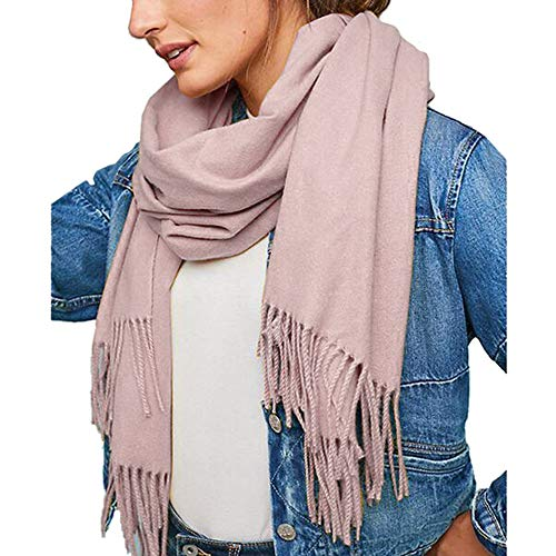 Fashion Scarves Womens Winter Faux Cashmere Christmas Scarf Solid Colors Afterso