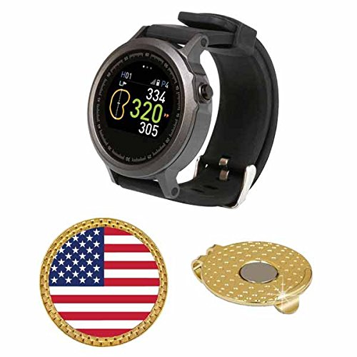GolfBuddy WTX Golf GPS/Rangefinder Smart Watch (40k+ Preloaded Worldwide Courses) Bundle with Magnetic Hat Clip Ball Marker (USA - Reviews Best Sunglasses Golf