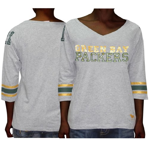 NFL Green Bay Packers  21 Womens Pink Victoria s Secret V-Neck 3 4 Sleeve T  Shirt Small Grey - Buy Online in Oman.  f4c09e33f