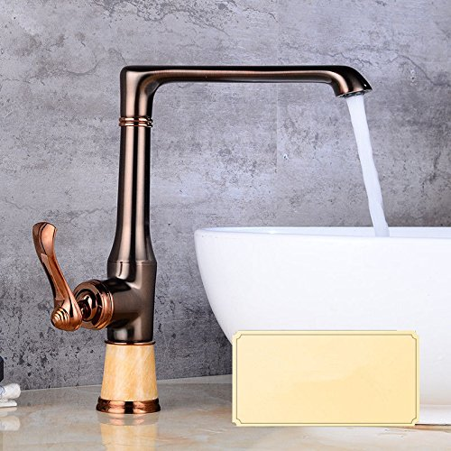 PatTheTap Bathroom Faucet Three Hole Split Retro Metal Copper for Washbasin Hot and Cold Water Mixing Janitorial & Sanitation Supplies
