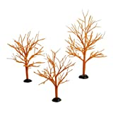 Department 56 Halloween Accessories for Villages Orange Bare Branch Trees
