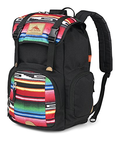 High Sierra Emmett Backpack, Black/Serape