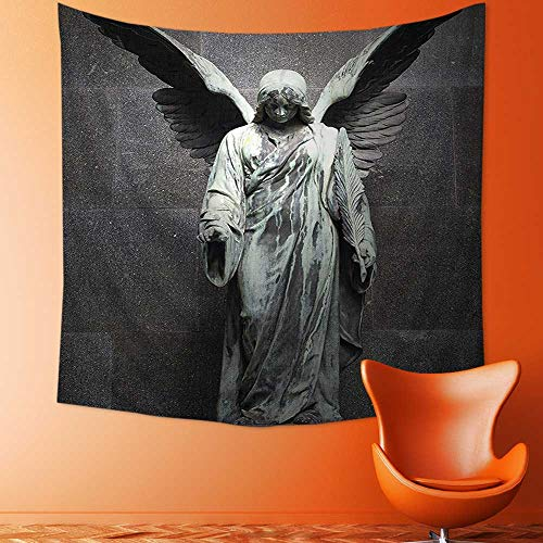 Printsonne Home Decor Collection Sculpture of an Angel with Dark Background Catholic Belief Century Old Artwork Wall Hanging for Bedroom Living Room Dorm by Printsonne