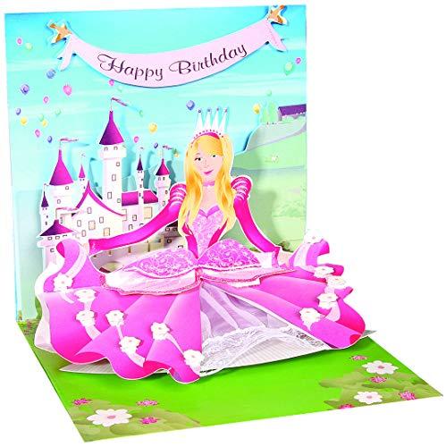 (3D Greeting Card - PRINCESS - Happy Birthday)