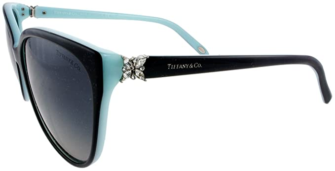 89860b4a8f6f Amazon.com  Tiffany   Co. TF4089B 8055T3 Black blue Frame Color Polarized  Grey Gradient Lens  Clothing