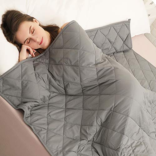 Cheap Tramean Weighted Blanket 15 lbs for Adults   48