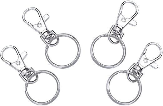 Key Rings Chains Silver Plated 10 Lobster Swivel Clasps Ships IMMEDIATELY from California 13x35mm A528