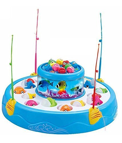 Fun Villa Fish Catching Game Big with 26 Fishes and 4 Pods, Inclues Music and Lights Assorted Color product image