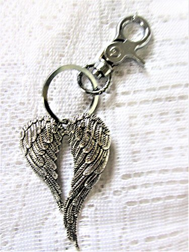 Key Chain, Angel Key Ring, Angel wings Purse Fob, Angel Wings Zipper Pull, Andrea Lapins Art, Handmade, Handmade Jewelry, Angel Zipper Pull, Purse Acc…