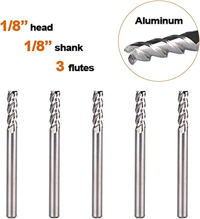 "1//16/"" 4-FLUTE SOLID CARBIDE SQ END MILL USA MADE 2 PC LOT"