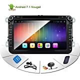 Product review for Car Stereo Touch Screen Bluetooth GPS DVD Double Din In Dash Sat Navigation Vehicle Head Unit for VW Volkswagen Jetta Golf Passat Tiguan T5 VW Skoda Seat Hands Free Call Free Map Backup Camera