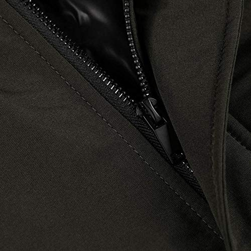 Outdoor Voler Bomber Militaires Cuir Collier Casual 7819 Stand Veste poche L'hiver Hommes Multi Glissière Vêtements vert À Militaire En Manteau Bazhahei Manteaux Automne Blousons ZnTx6