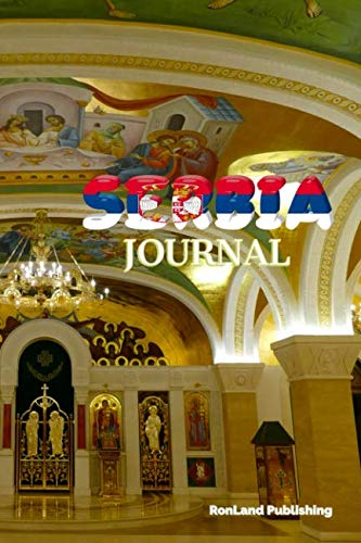 Journal: Serbia 100 page lined ruled notebook...