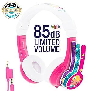 Explore Foldable Volume Limiting Kids Headphones - Pink