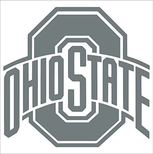 Rico Industries - Ohio State Buckeyes Window Graphic Decal (5'' x 6'', Grey)