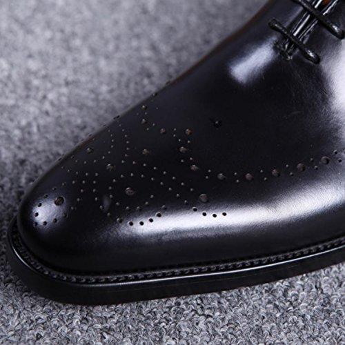 Lyzgf Gentleman Affari Moda Casual Abbigliamento Formale Traspirante Scarpe A Punta In Pelle Marrone