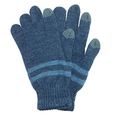 Grand Sierra Men's Marled Knit Stretch Touchscreen Glove, Blue ()