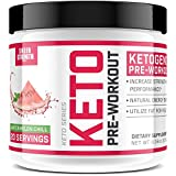 Ketogenic Pre Workout Supplement - Promotes Healthy Weight Loss, Fat Burning and Boosted Energy Through Rapid Ketosis - Includes BHB Salts (Ketones) - Watermelon Chill - 237g - Sheer Strength Labs