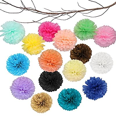 Landisun Exclusive Tissue Paper Flower Poms for Wedding Birthday Room Decoration