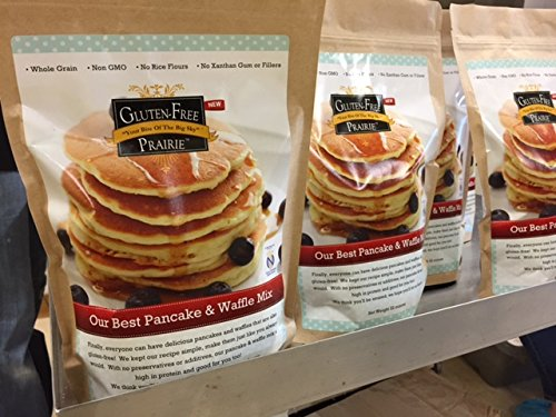 Price comparison product image Gluten Free Prairie,  Our Best Pancake & Waffle Mix,  22 Ounce (Pack of 1),  Certified Gluten Free Purity Protocol,  All Natural,  Whole Grain,  Vegan,  No Rice Flours,  High in Protein and Fiber