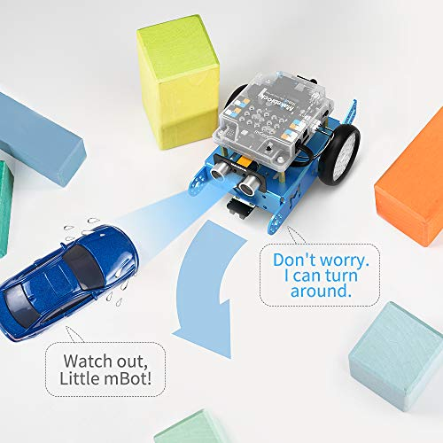 Makeblock mBot Robot Kit, DIY Mechanical Building Blocks, Entry-level Programming Helps Improve Children' s Logical Thinking and Creativity Skills, STEM Education. (Blue, Bluetooth Version, Family) by Makeblock (Image #3)
