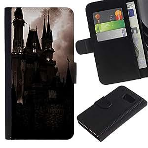 All Phone Most Case / Oferta Especial Cáscara Funda de cuero Monedero Cubierta de proteccion Caso / Wallet Case for Samsung Galaxy S6 // Spooky Night Dracula Vampire
