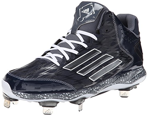 adidas Performance Men's Power Alley 2 Mid Baseball Cleat, Navy/Onix, 10 M US