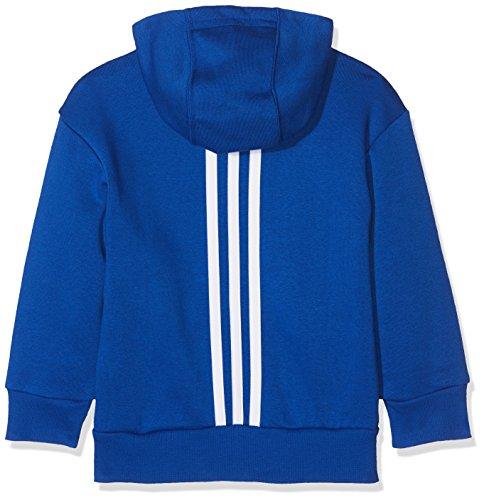 blanco Con Oscuro Fz Unisex Azul Sudadera Lin Capucha Niños Adidas Lk azul ZzpqSxwqB