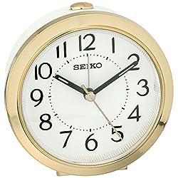 Seiko Plastic Alarm Clock (Model: QHE146GLH)